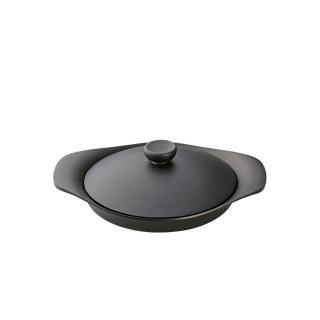 【柳宗理】南部鐵器雙耳平底煎鍋(附黑鐵蓋)