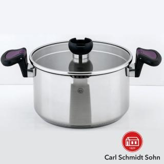 【HOLA】Carl Schmidt Sohn 亞倫不鏽鋼低身湯鍋 24cm