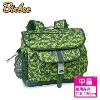【美國Bixbee】迷彩系列叢林綠恐龍中童輕量減壓背書包
