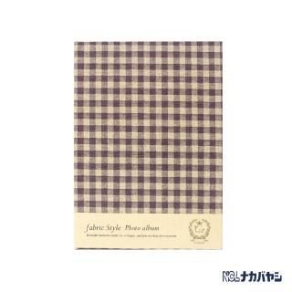 【日本 Nakabayashi】自黏相本 麻布系列 日式格紋相本(紫)