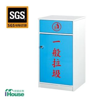 【IHouse】零甲醛 環保塑鋼1門資源回收櫃(寬44深40高88)