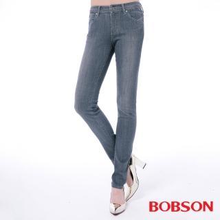 【BOBSON】女款低腰膠原蛋白小直筒褲(8146-85)