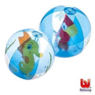 【酷博士】Bestway。20吋可愛動物充氣球/水球-海馬/鸚鵡-隨機出貨