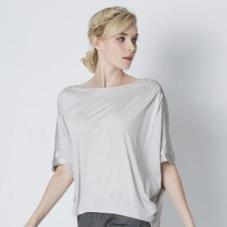 【矜蘭妃】100%蠶絲質感緞造歐美訂製款上衣(單件)