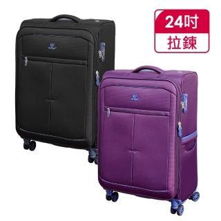 【Verage】維麗杰 24吋 超輕量經典格紋環保旅行箱三代(4色可選)