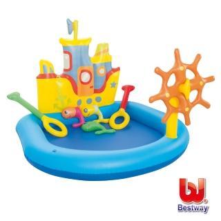 【酷博士】Bestway。充氣船舵造型戲水池