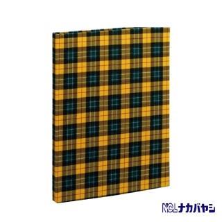 【日本 Nakabayashi】自黏相本 麻布系列 格紋相本(黃)