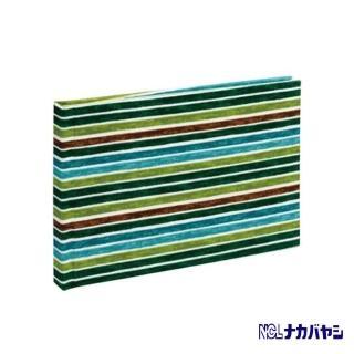 【日本 Nakabayashi】自黏相本 麻布系列 條紋相本(綠)