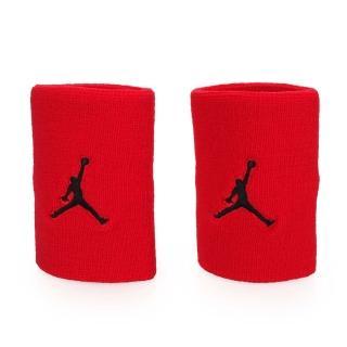 【NIKE】JORDAN JUMPMAN單色腕帶-飛人喬登 籃球 NBA 護腕 一雙入(紅黑)