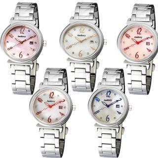 【Audrey 歐德利】典雅非凡簡單珍珠貝面女用腕錶(28mm/AUL5651)