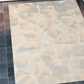 【Ambience】比利時 Aquarel 絲毯(石紋 68x110cm)