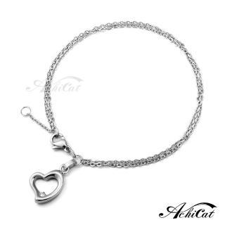 【AchiCat】鋼手鍊 珠寶白鋼 時尚愛心 B578