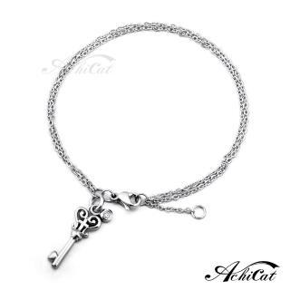 【AchiCat】鋼手鍊 珠寶白鋼 愛情之鑰 B593