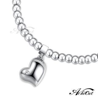 【AchiCat】圓珠鋼手鍊 珠寶白鋼 點滴情懷 蜜糖甜心 愛心 H6046