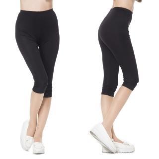 【BELLA SETA】100%蠶絲125G七分內搭褲(黑色)