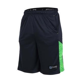 【FIRESTAR】男籃球短褲-慢跑 路跑(丈青淺綠)
