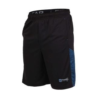 【FIRESTAR】男籃球短褲-慢跑 路跑(黑藍)