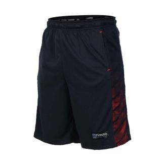 【FIRESTAR】男吸排籃球短褲-慢跑 路跑 五分褲(丈青亮橘)