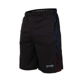 【FIRESTAR】男吸排籃球短褲-慢跑 路跑 五分褲(黑)