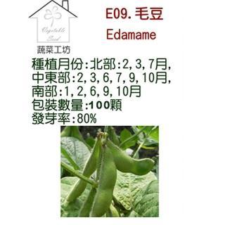 【蔬菜工坊】E09.毛豆種子(隨季節替換)