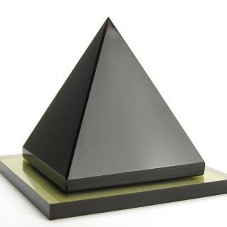 【開運工場】80mm黑曜石能量金字塔(附贈底座)
