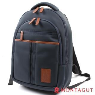 【MONTAGUT夢特嬌】輕量防潑水輕量舒壓帶後背包(英倫學院風)