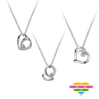 【彩糖鑽工坊】心有獨鍾系列 10K鑽石項鍊(CL-PD198)