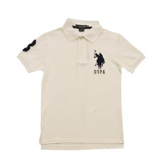 【US POLO】經典戰馬短袖POLO衫-白(美國時尚品牌服飾)