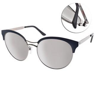 【Go-Getter太陽眼鏡】韓系貓眼眉框(藍銀-白水銀#GS1702 SISM)