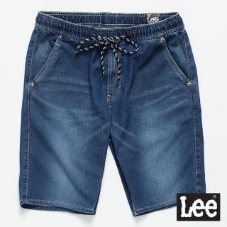 【Lee】運動休閒牛仔短褲/UR-男款-深藍(牛仔、短褲、休閒)