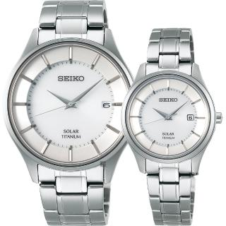 【SEIKO】精工 SPIRIT 鈦金屬對錶(SBPX101J+STPX041J)