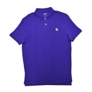 【Express】經典Polo衫 紫色小獅LOGO(美國時尚品牌服飾)