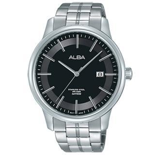 【ALBA】藍色光圈 AS9D87X1 簡約時尚石英腕錶(43mm/VJ42-X226B)