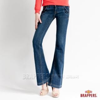 【BRAPPERS】女款 垮褲系列-中低腰小喇叭褲(藍)