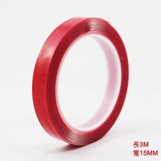 【佳工坊】強力透明超黏無痕雙面膠帶(15mm*3m)