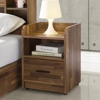 【直人木業】INDUSTRY積層木雙層40公分床頭櫃