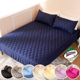 【Annette】透氣防潑水技術處理床包式保潔墊雙人加大6x6.2尺 MIT台灣精製 6色可選(側邊加高35cm)