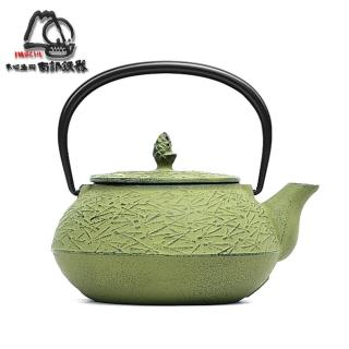 【IWACHU 岩鑄】南部鐵器 急須 松葉5型 淺綠 鑄鐵壺 茶壺-0.65L(12425)