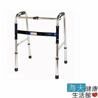 【海夫健康】恆伸機械式助行器 未滅菌 鋁合金 1吋亮銀色 助行器 扁圓管(ER-3429)