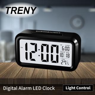【TRENY】LED光控彩色鐘 - 黑(時鐘 鬧鐘)