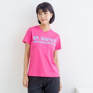 【St.Bonalt 聖伯納】女-圖騰速乾運動T恤7176(吸濕排汗 彈力 透氣 撞色 戶外 跑步 運動)