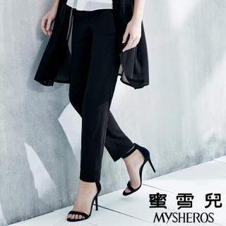 【mysheros 蜜雪兒】柔軟垂墜直筒長褲(黑)