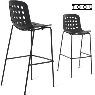 【YOI傢俱】義大利TOOU品牌 HOLI系列 赫恩高腳椅76公分 4色可選 有孔椅背(YPM-161207)