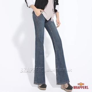 【BRAPPERS】女款 三排扣寬版水兵大喇叭褲(藍)