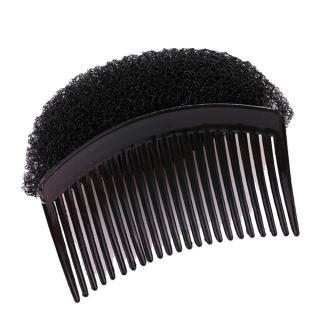 【kiret】日韓 自然便利 扁頭蓬鬆器-黑色(馬尾蓬鬆器 增高墊 盤髮墊 盤髮器 魔鬼粘 髮梳 插梳)