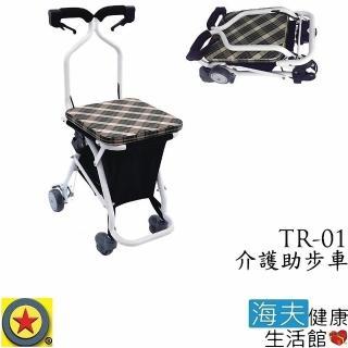 【海夫健康生活館】輪昇 快速收折 介護 助步車 購物車(TR-01)