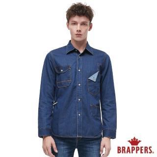 【BRAPPERS】男款 牛仔長袖襯衫(藍)
