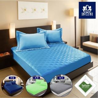【NINO1881】護理級波浪紋杜邦防潑水床包式保潔墊-加大  (4色任選)