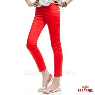 【BRAPPERS】女款 新美腳Royal Cargo系列-女用彈性九分褲(橘紅)