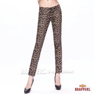 【BRAPPERS】女款 新美腳Royal系列-彈性九分褲(豹紋)